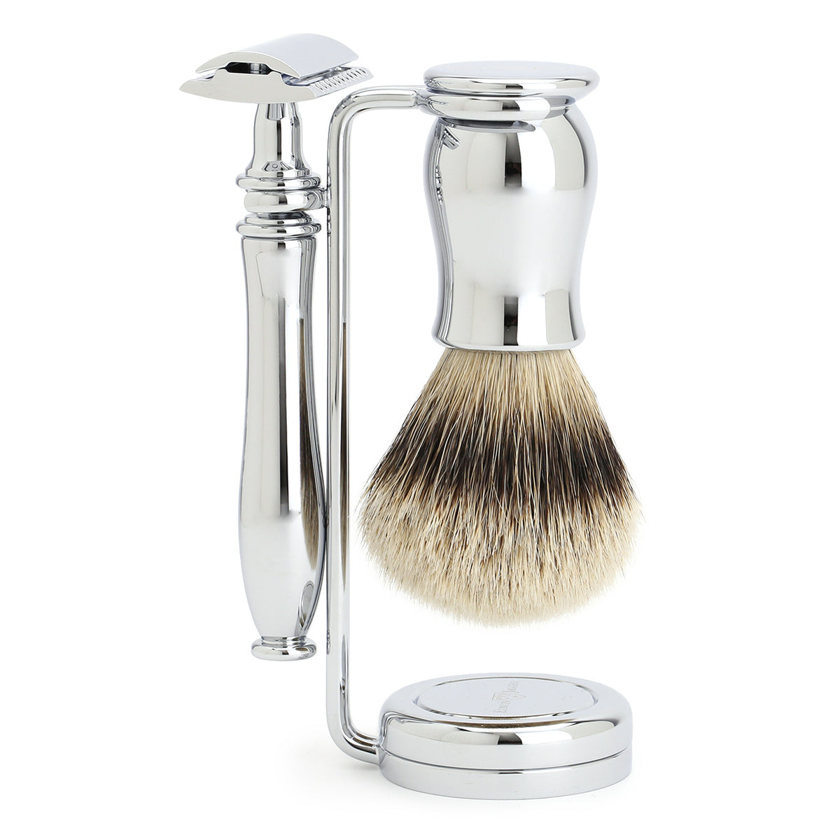 Edwin Jagger Chatsworth smooth chrome 3 piece set