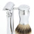 Edwin Jagger Chatsworth smooth chrome 3 piece set - logo detail