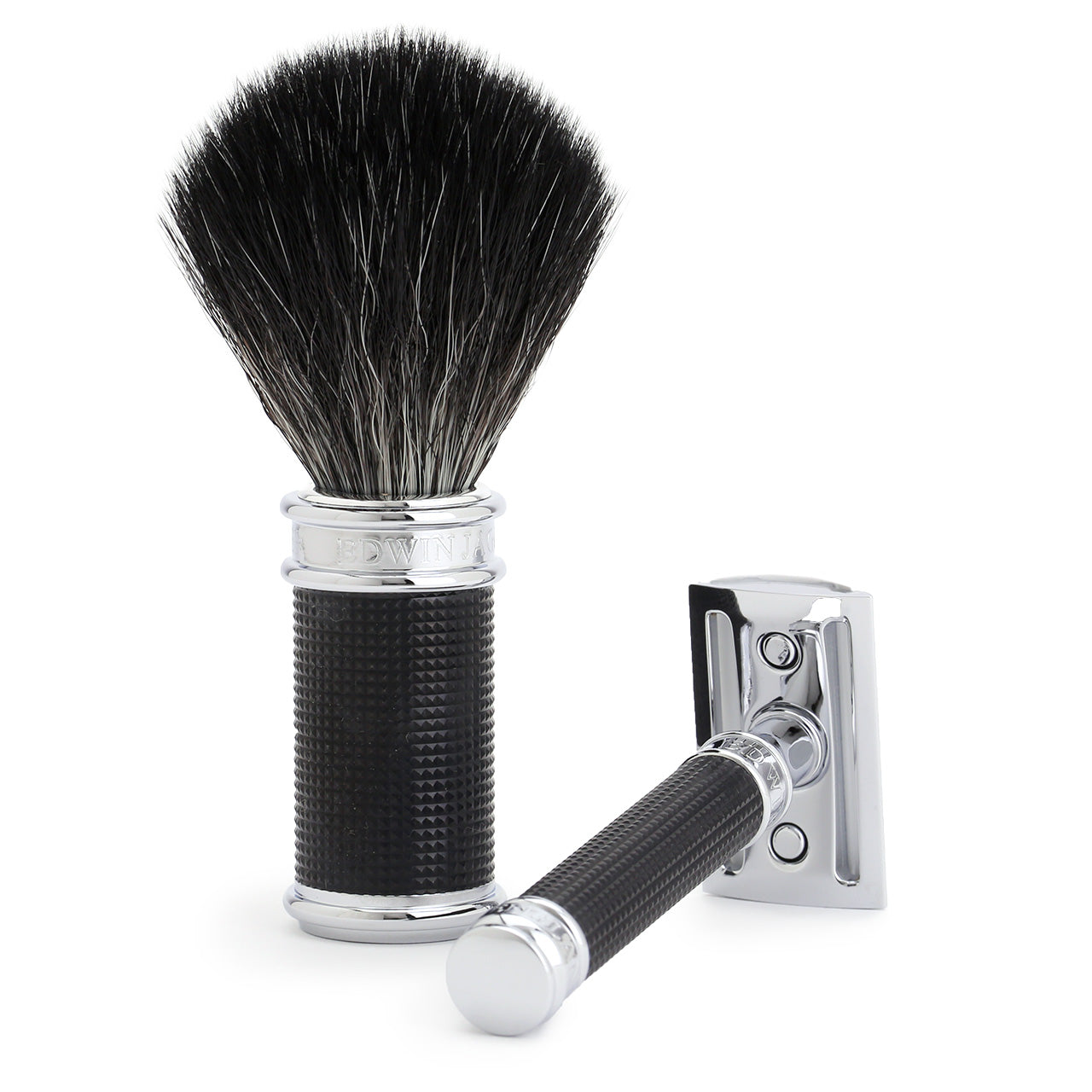 Edwin Jagger 3 Piece Set - Black 3D Chrome