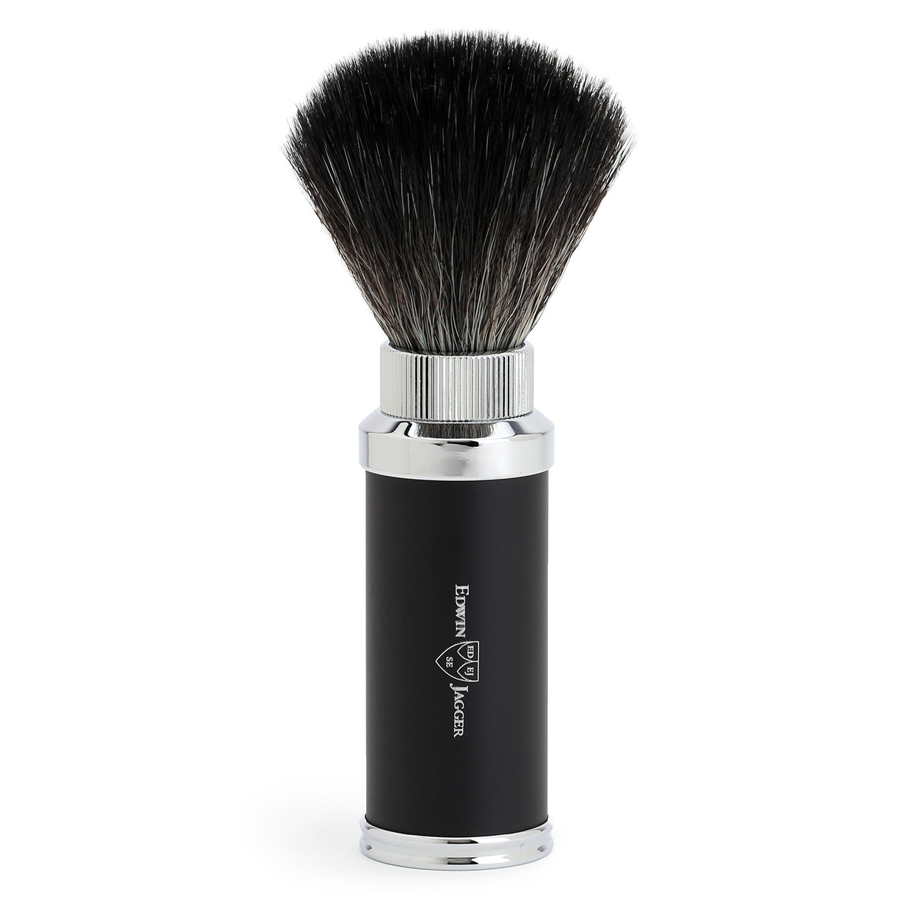 Edwin Jagger Travel Shave Brush, Black & Chrome