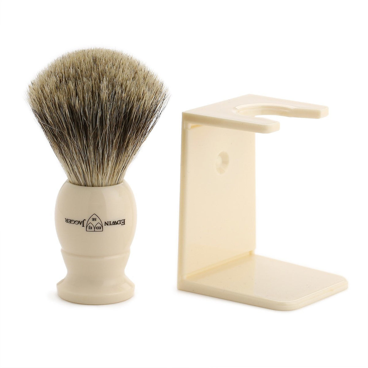 Edwin Jagger Imitation Ivory Shaving Brush & Aloe Vera Shave Cream Gift Set