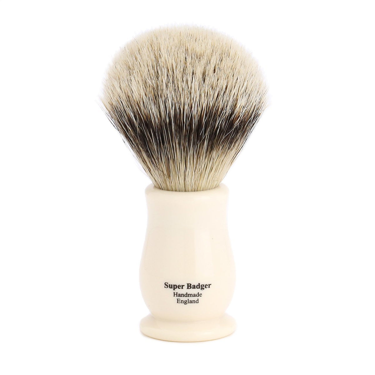 Edwin Jagger Chatsworth Super Badger Shaving Brush - Ivory
