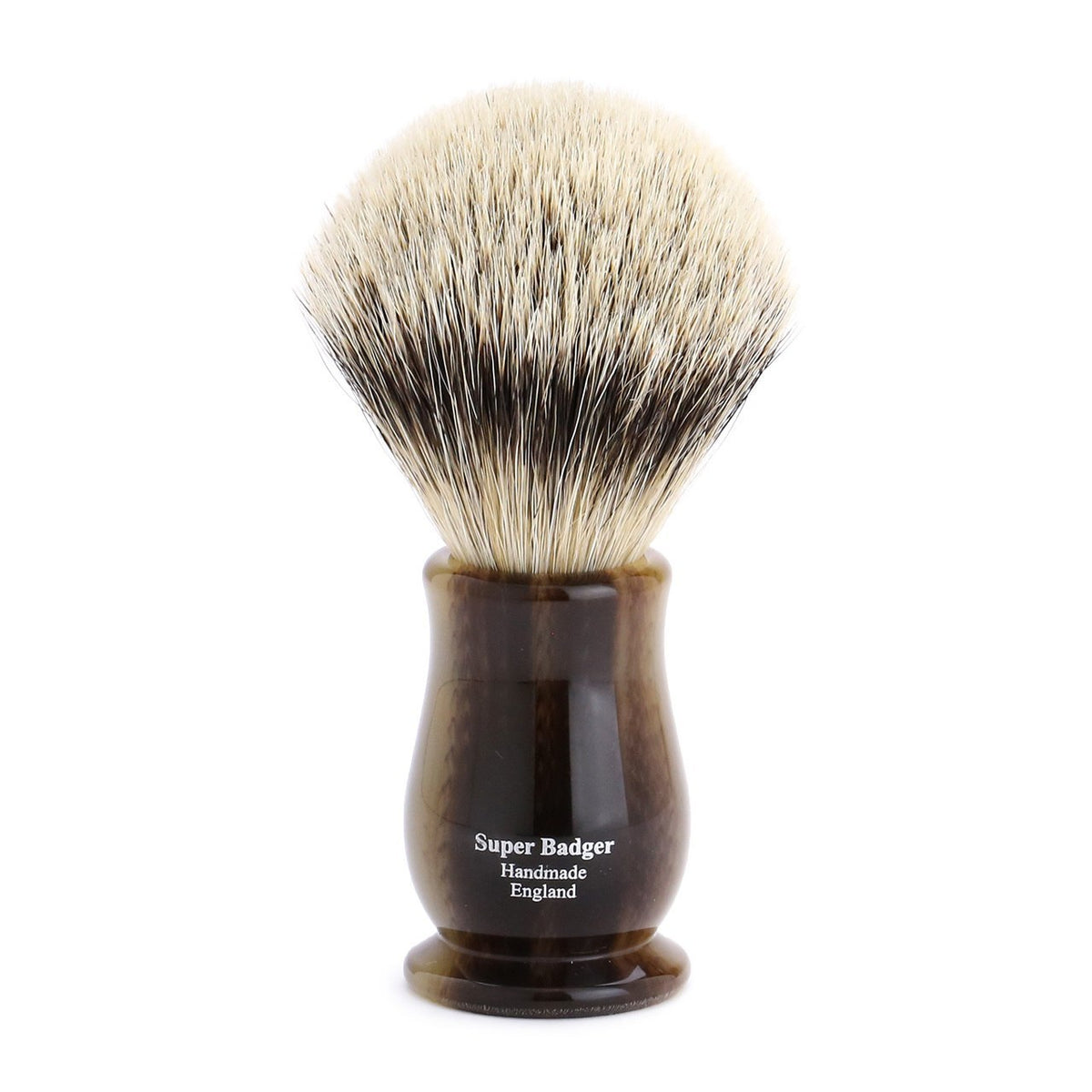 Edwin Jagger Chatsworth Super Badger Shaving Brush - Light Horn