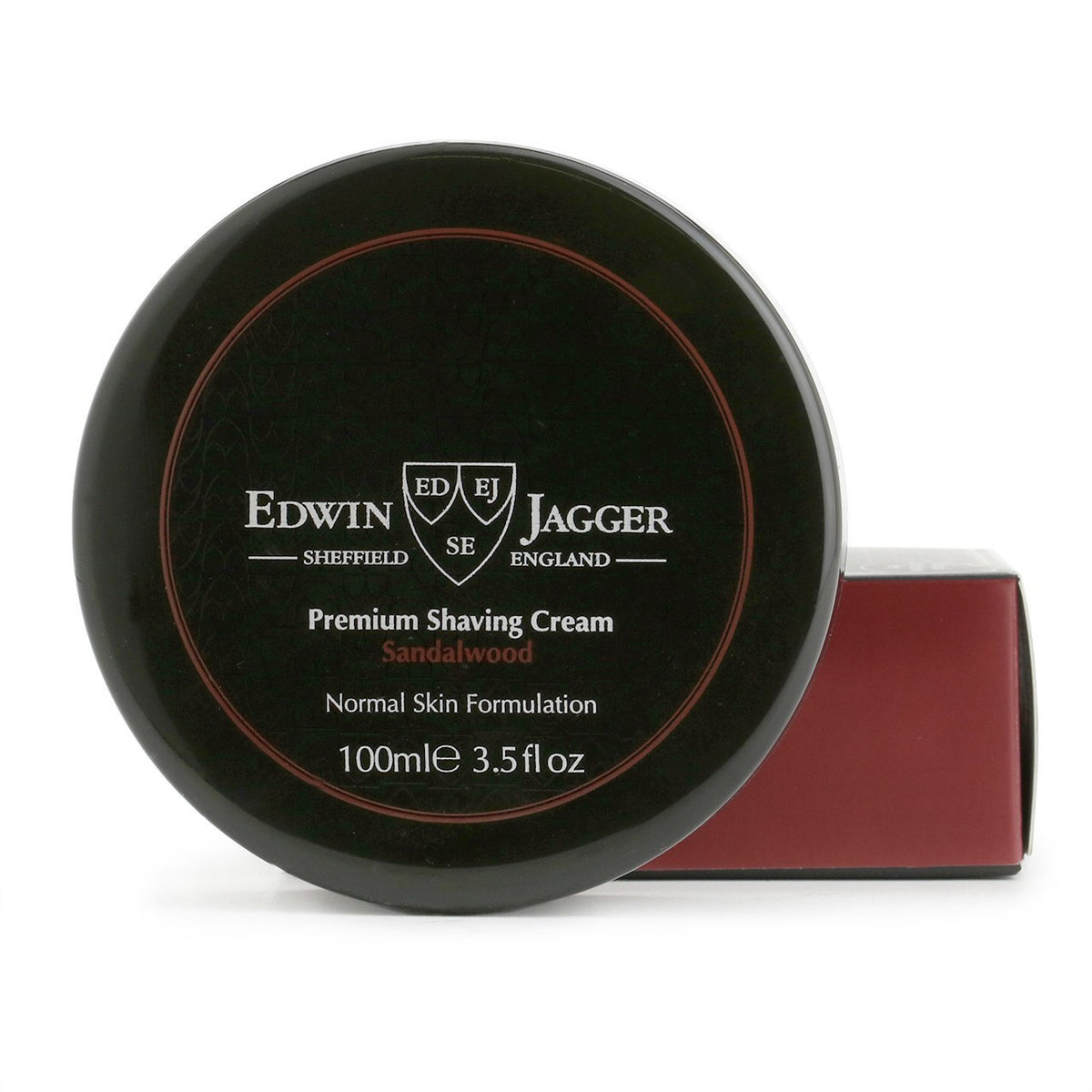 Edwin Jagger Natural Premium Shaving Cream Tub - Sandalwood
