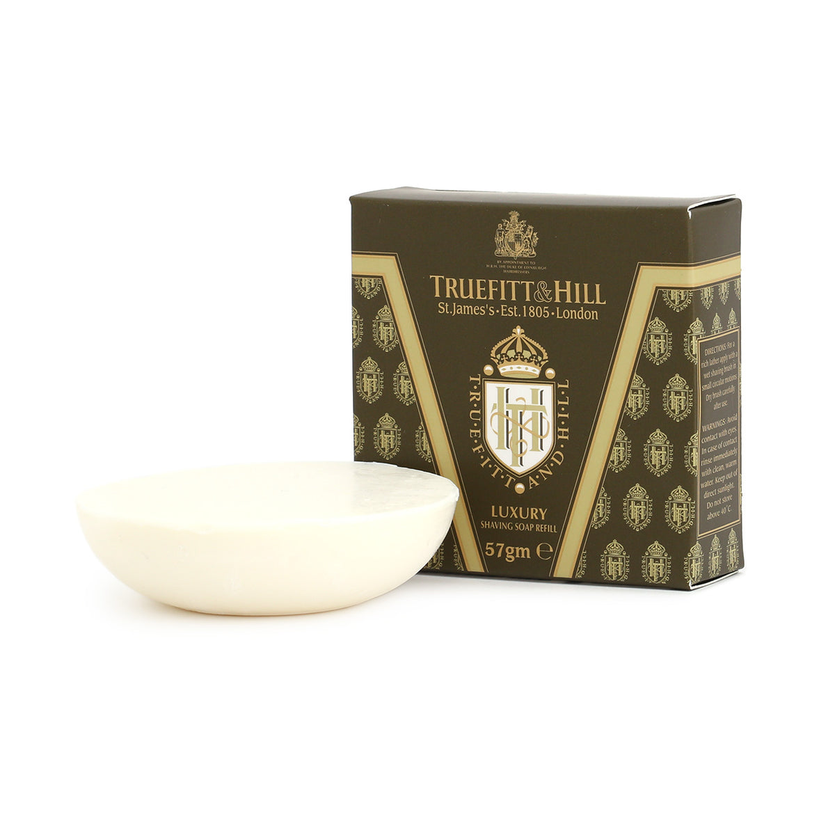 Truefitt & Hill Sandalwood Luxury Shaving Soap - small refill for mug