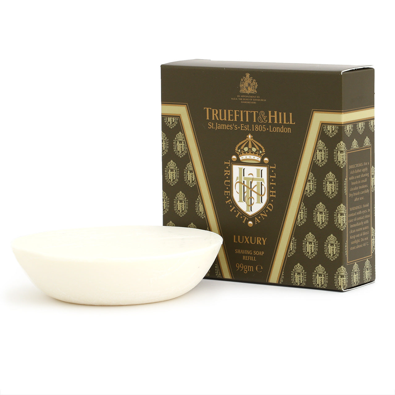 Truefitt & Hill Luxury shaving soap refill for wooden bowl