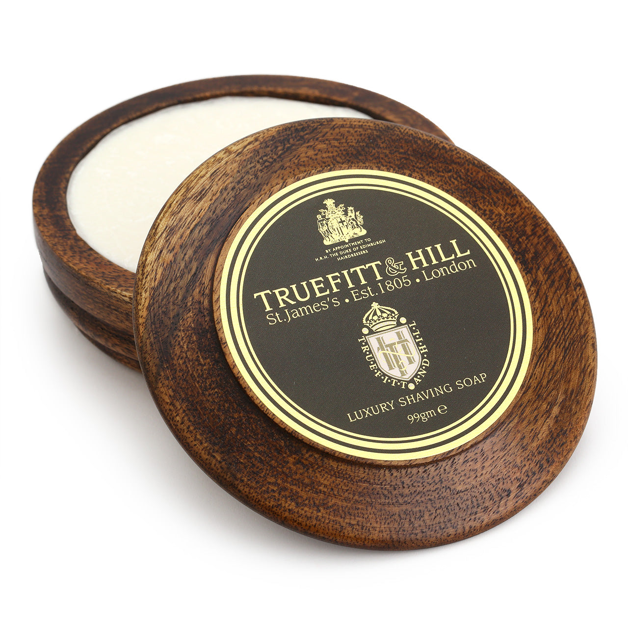 Truefitt & Hill Luxury shaving soap in a wooden bowl