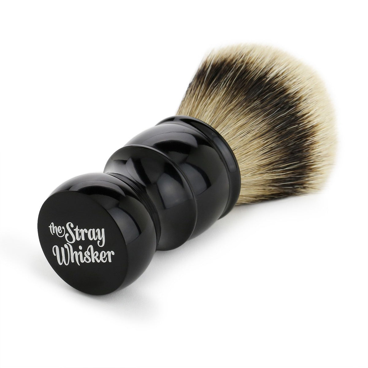 The Stray Whisker Silver Tip Badger Shave Brush - 26mm