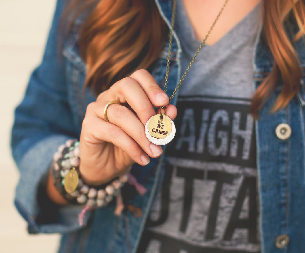 Be The Change Necklace