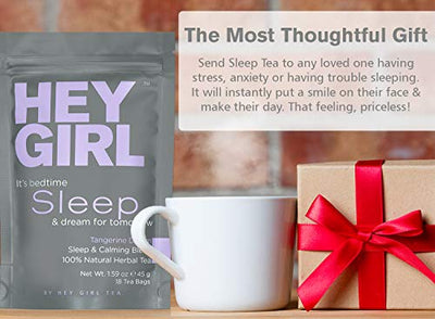 Herbal Tea Sleep Aid w/ Chamomile, Valerian Root & Lemon Balm