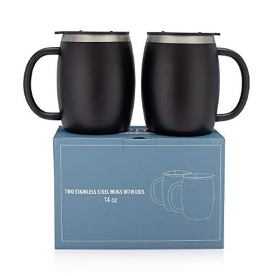 14 Oz Double Walled Insulated Stainless Steel Coffee Mug