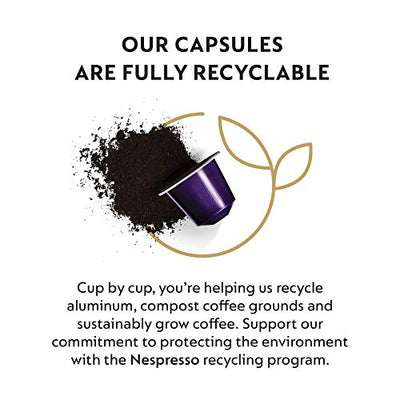 Nespresso 50 Count Medium & Dark Roast Espresso Coffee Variety Pack