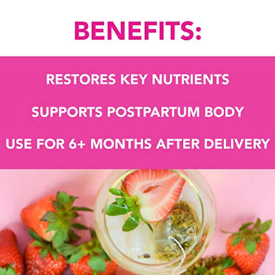Pink Stork Postpartum Recovery Strawberry Passion Fruit Tea