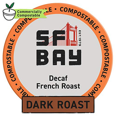 SF Bay 12 Count Dark Roast Decaf French Roast Coffee Pods