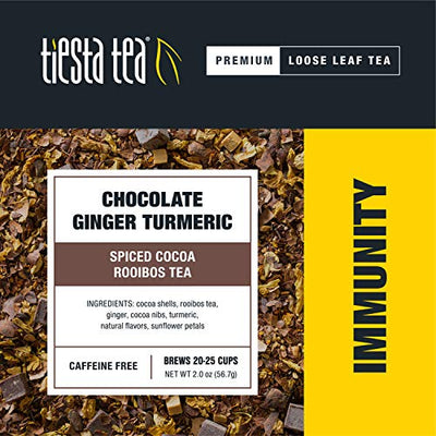 Tiesta Tea Chocolate Ginger Turmeric Spiced Cocoa Rooibos Tea