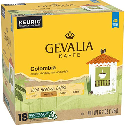 Gevalia 72 Count Colombia Blend Medium Roast K-Cup Coffee Pods