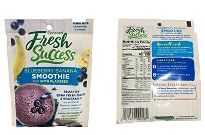 Concord 4 Pack Blueberry & Banana Smoothie Mix with Flaxseed