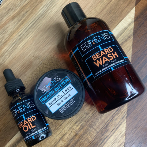 Elements 4 Men Essential Elements Trio (Beard Wash, Beard Oil, Beard Butter)