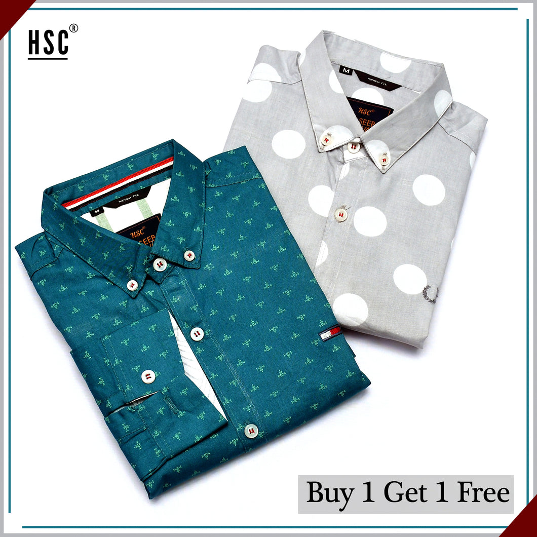 Buy 1 Get 1 Free Casual Shirt For Men - BGF3