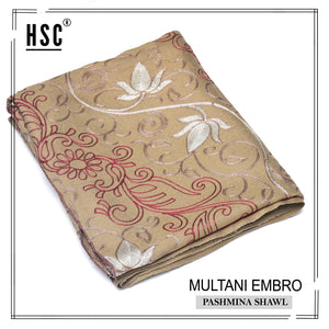 Multani Embro Pashmina Shawl For Ladies - MES7