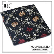 Load image into Gallery viewer, Multani Embro Pashmina Shawl For Ladies - MES10