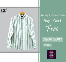 Load image into Gallery viewer, Stripes Jaquard RTW Casual Shirt For Men - FJM4