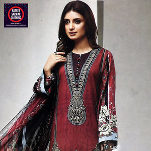 Farasha Embroidered Linen Wool - FSE3