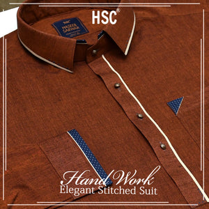 Elegant Ready To Wear Stitched Suit For Men - RTW46
