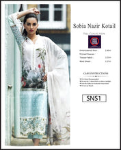 Load image into Gallery viewer, Sobia Nazir Embroidered Linen Digitial Print - SNS1