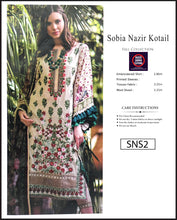 Load image into Gallery viewer, Sobia Nazir Embroidered Linen Digitial Print - SNS2