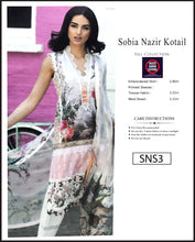 Load image into Gallery viewer, Sobia Nazir Embroidered Linen Digitial Print - SNS3