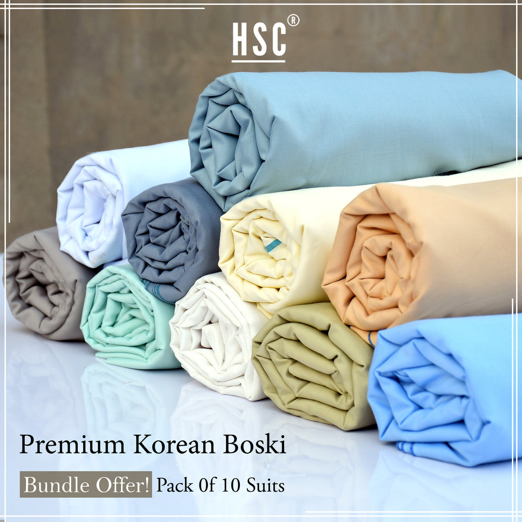 Pack Of 10 Suits Premium Korean Boski