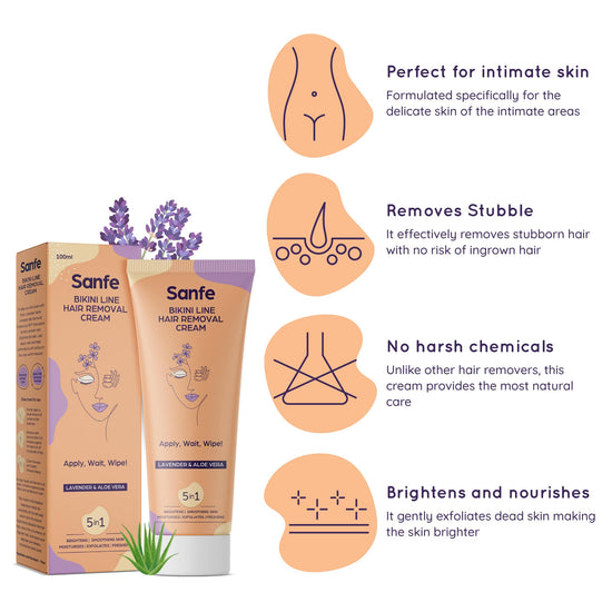 Bikini Line Hair Removal Cream For Pain Free Hair Removal