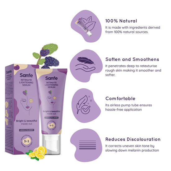 A STEP AHEAD KIT -Intimate Lightening Serum + Bikini line Hair Removal Cream +Intimate Wash-No irritation, 100% natural (1 unit each)