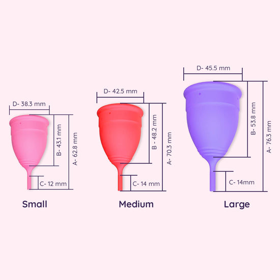 Miracle Period Set  - Menstrual Cup + Feminine Cramp Relief Roll On- no cramps, no leakages ( 1 unit each)