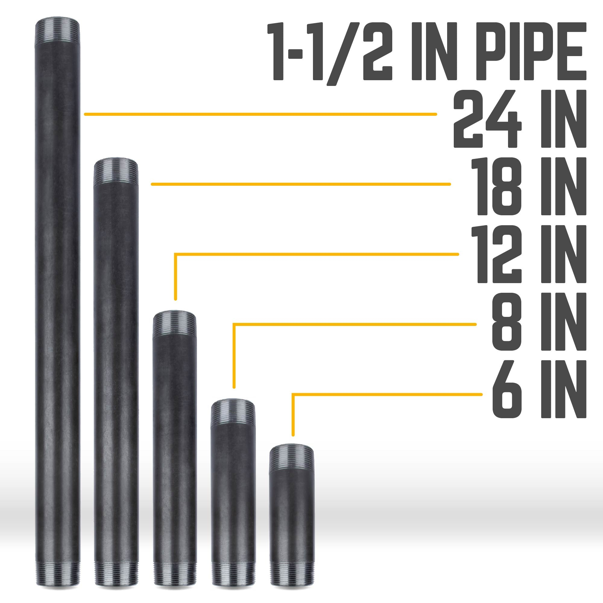1 1/2 In X CL In Black Pipe
