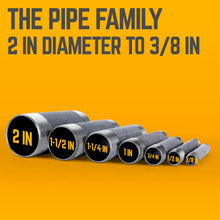 Load image into Gallery viewer, 1 1/2 in. X 24 in. Black Pipe 4 Pack - Pipe Decor