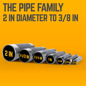 1 1/2 in. X 24 in. Black Pipe 4 Pack - Pipe Decor