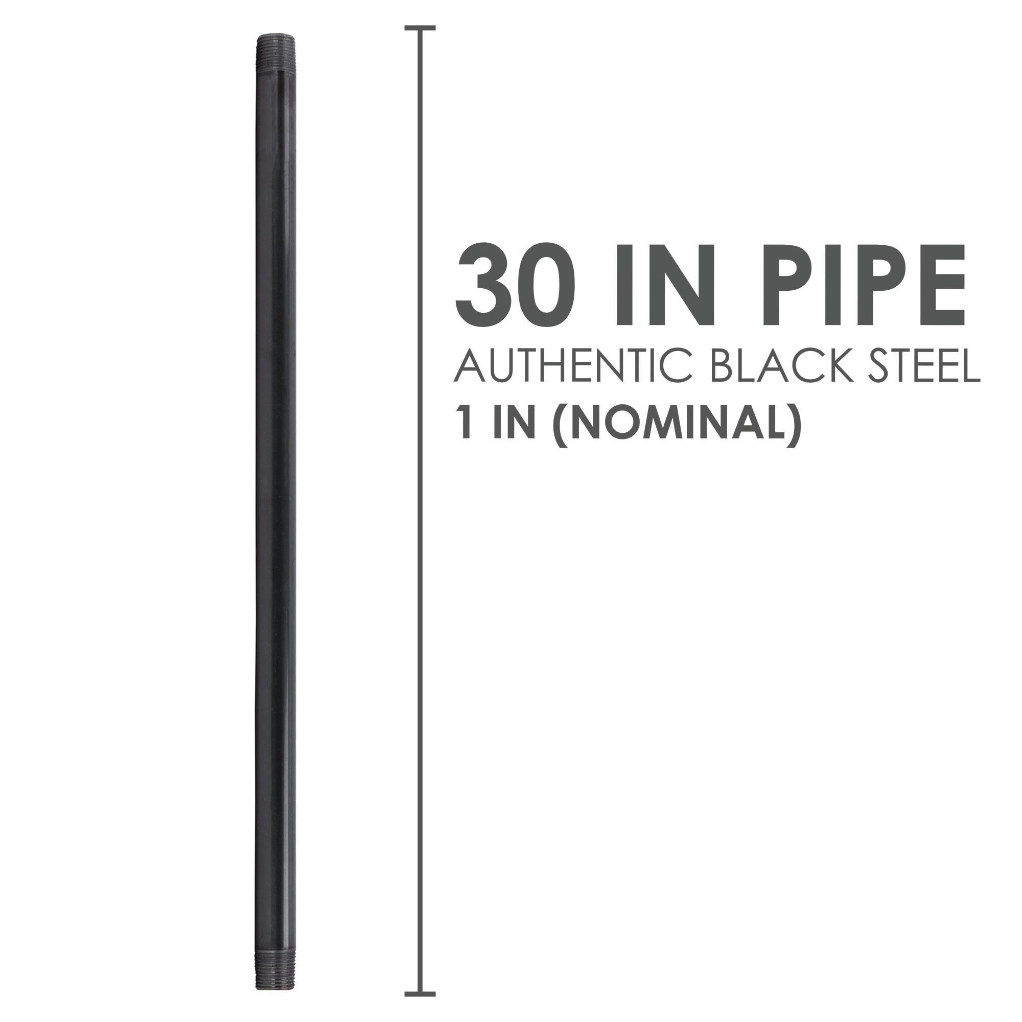 1 In X 30 In Black Pipe - Pipe Decor
