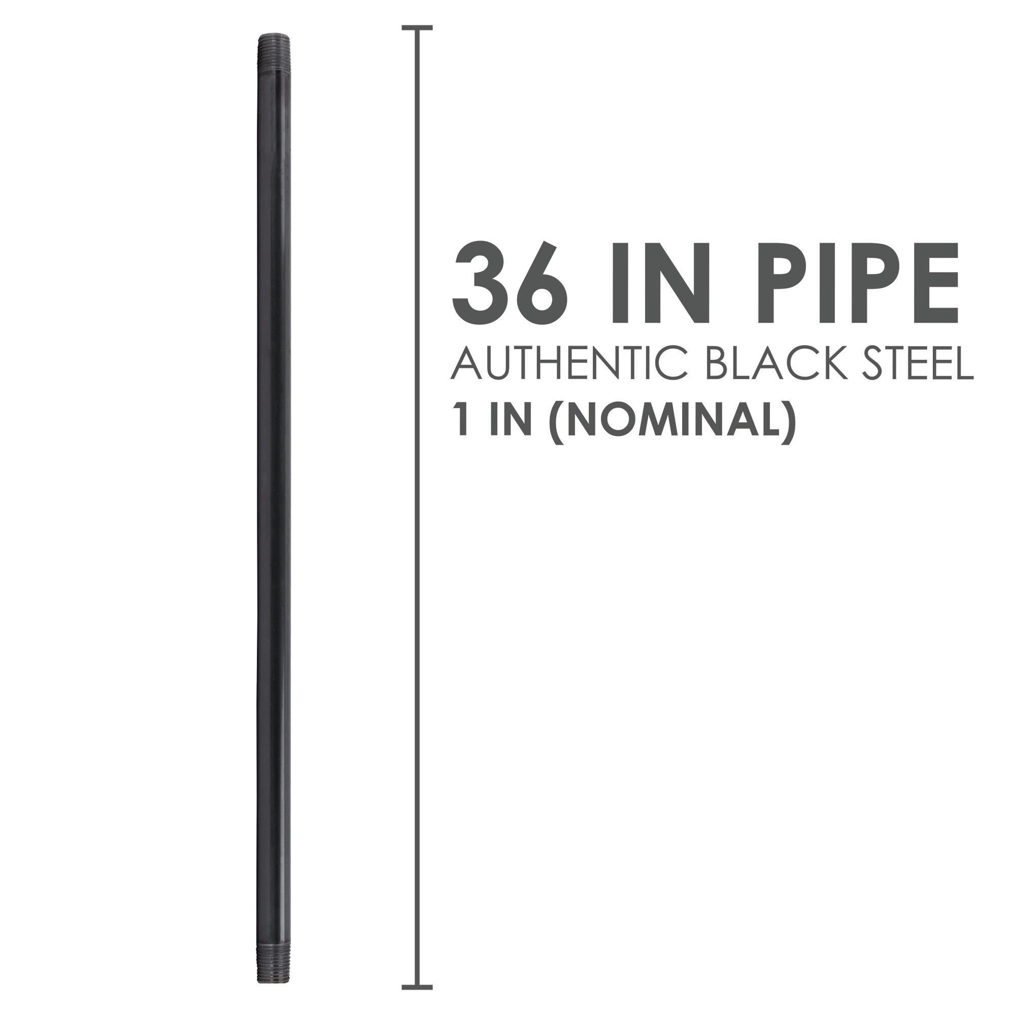 1 In X 36 In Black Pipe