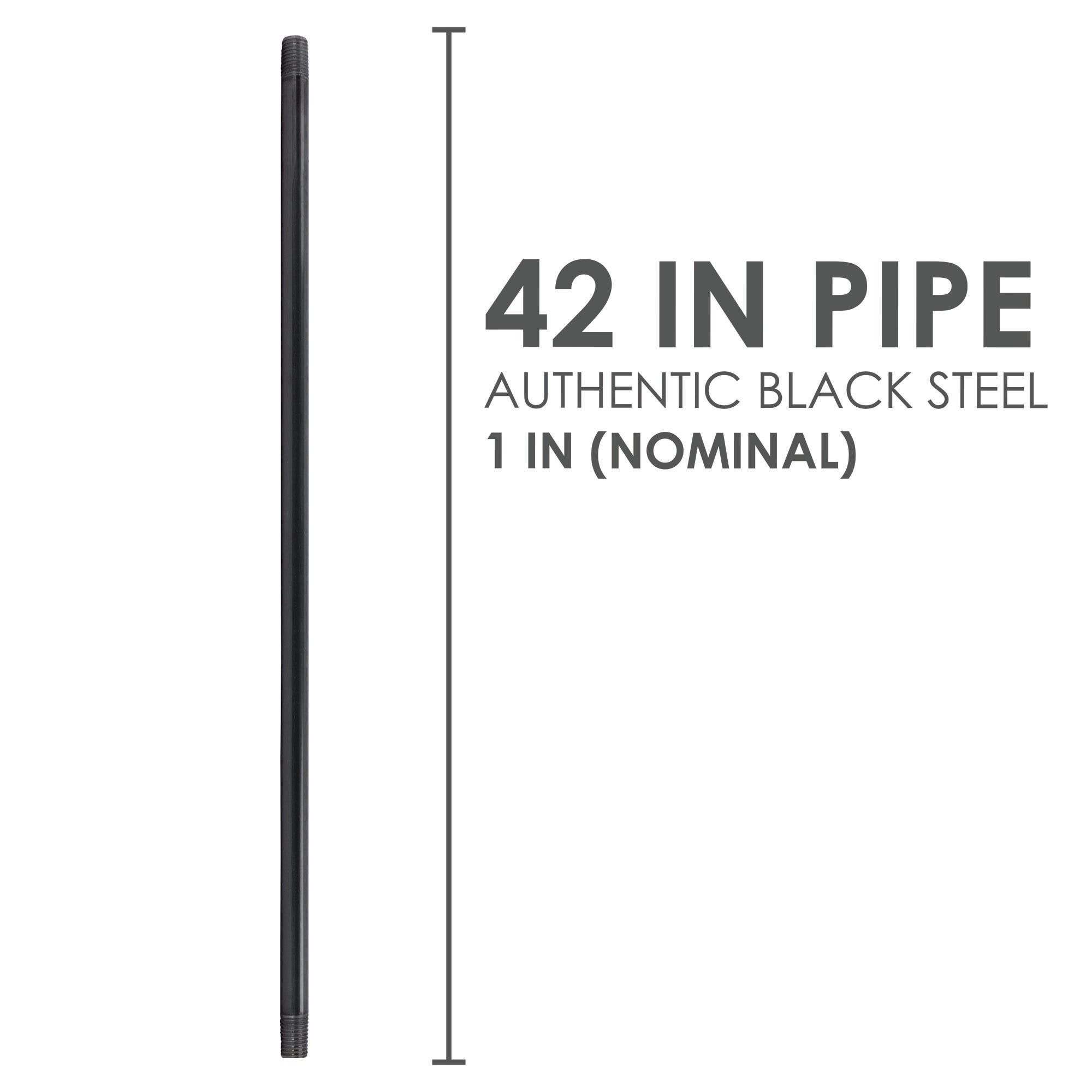 1 In X 42 In Black Pipe - Pipe Decor