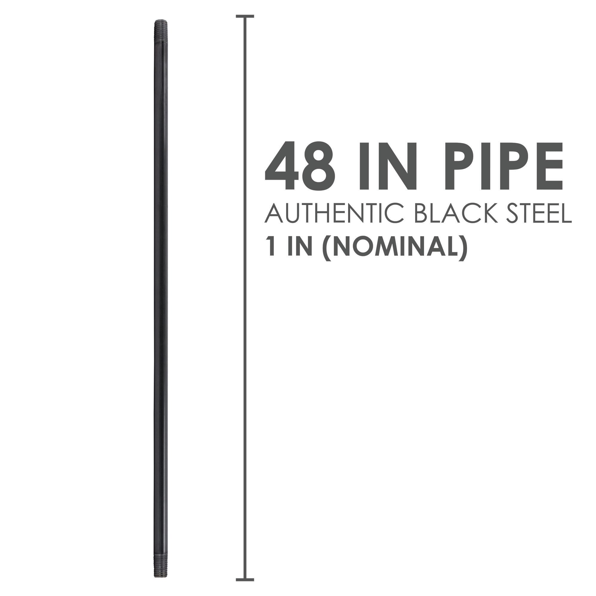 1 In X 48 In Black Pipe - Pipe Decor