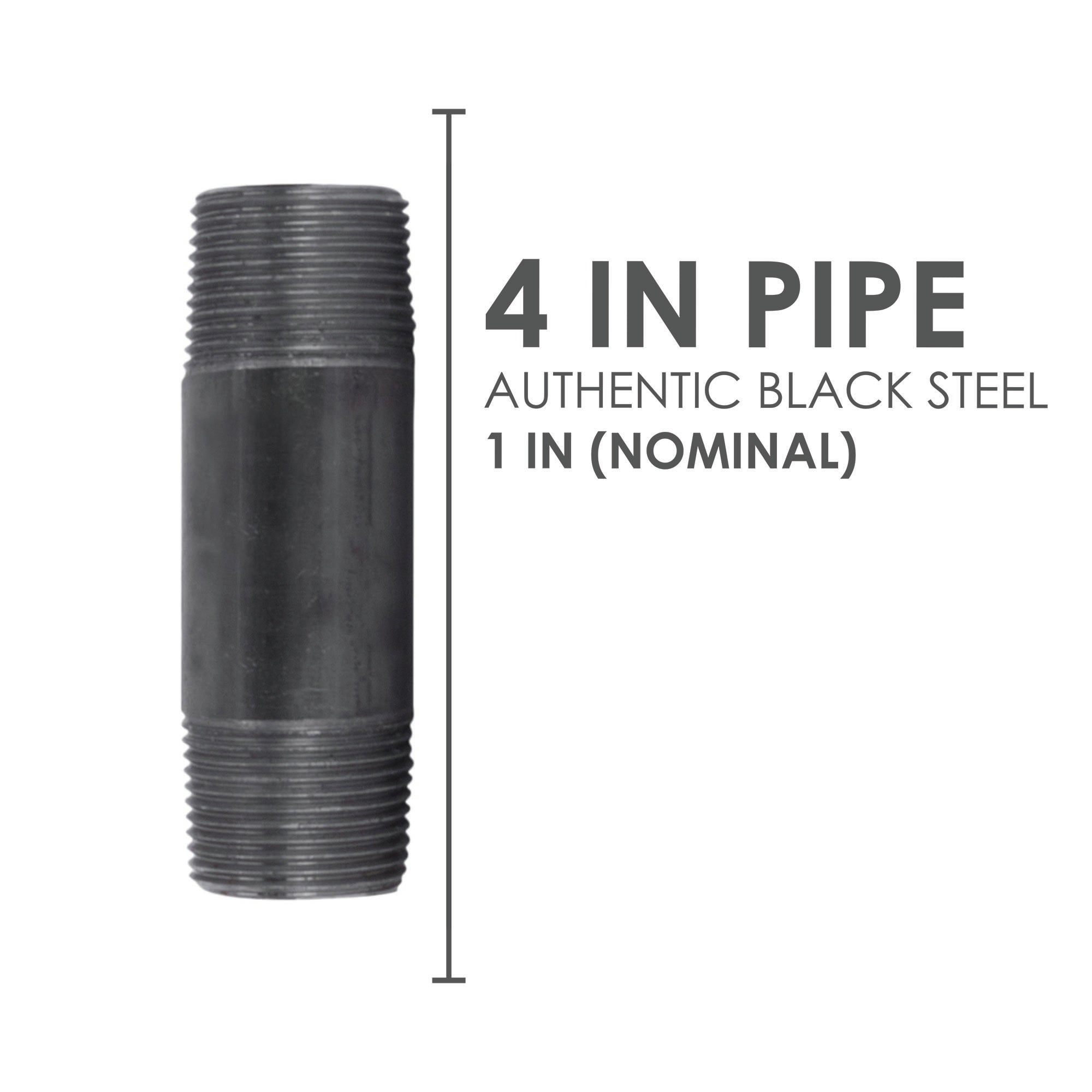 1 In X 4 In Black Pipe - Pipe Decor