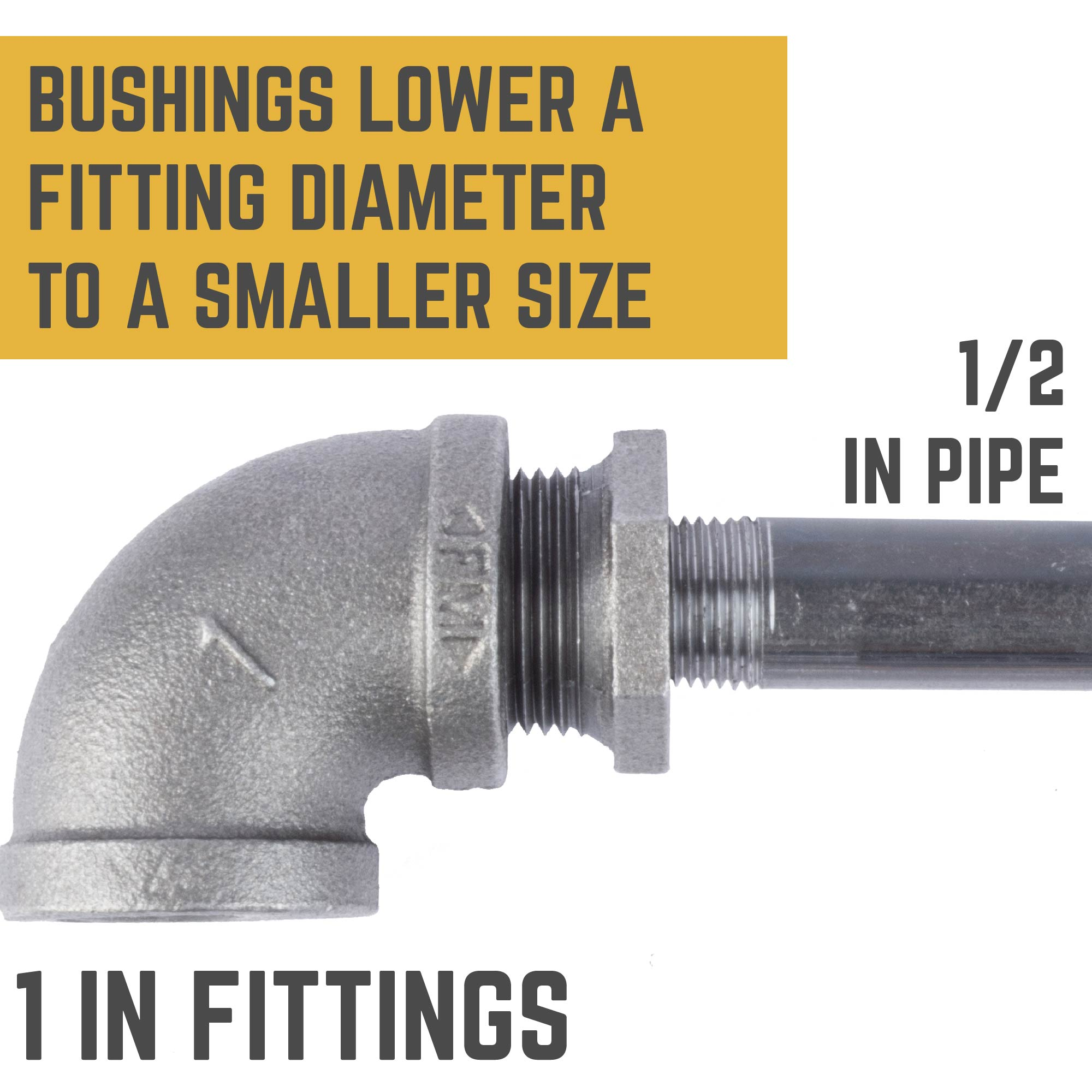 1 IN X 1/2 IN BUSHING
