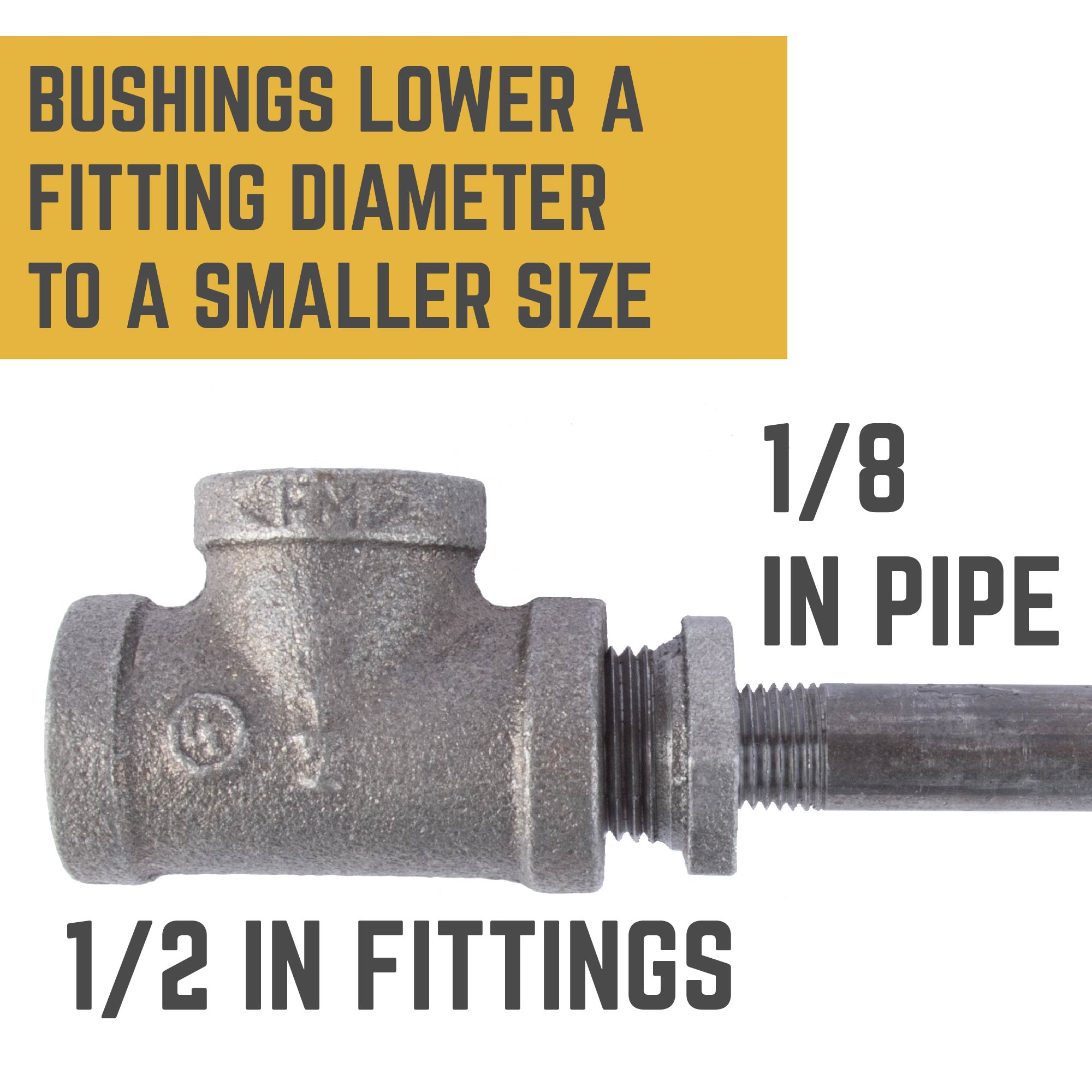 1/2 IN X 1/8 IN BUSHING