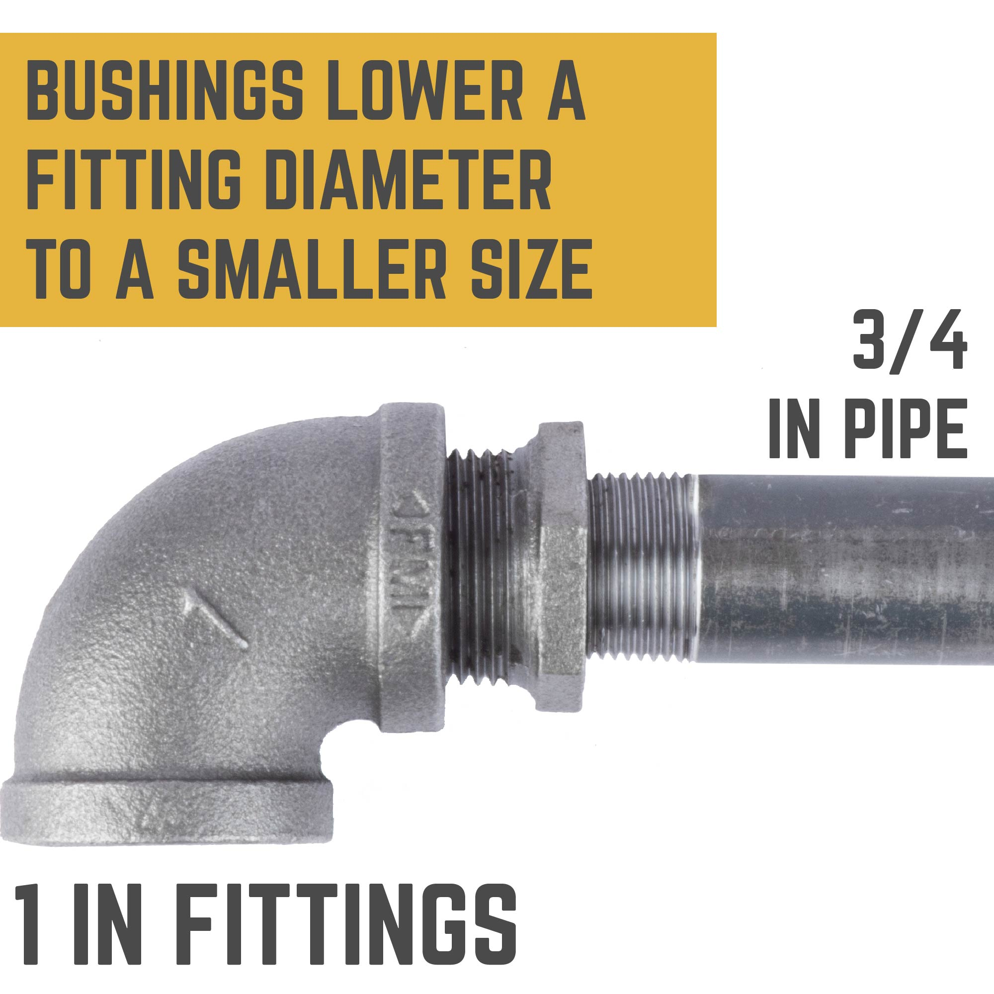 1 IN X 3/4 IN BUSHING