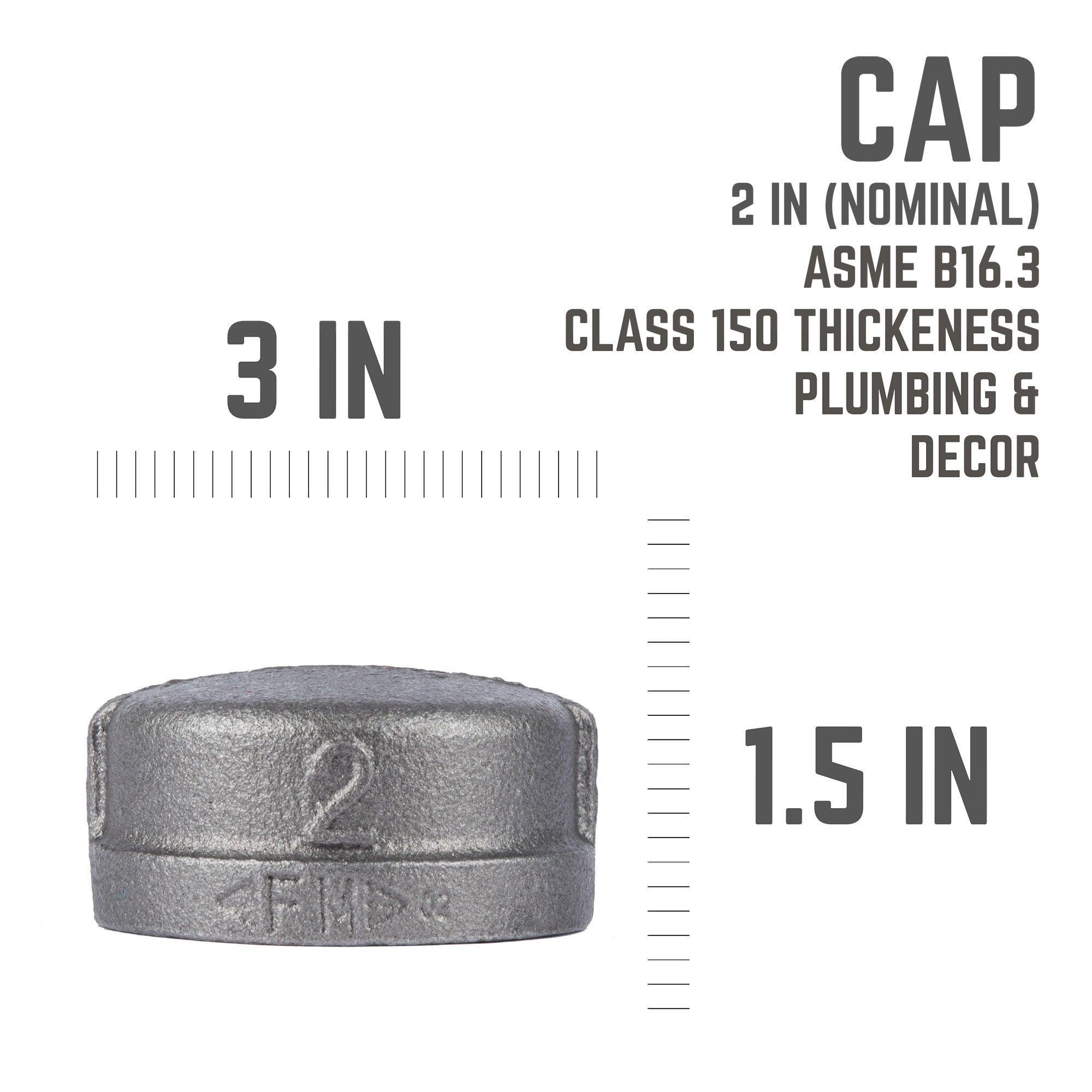 2 In Black Cap - Pipe Decor