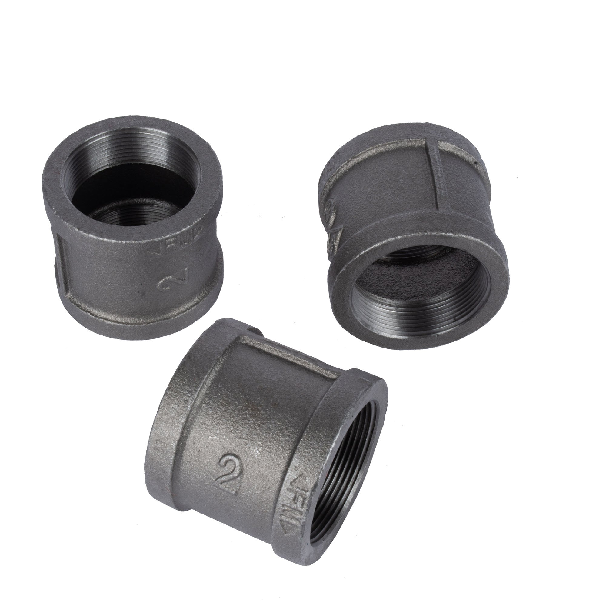 2 In Black Coupling - Pipe Decor