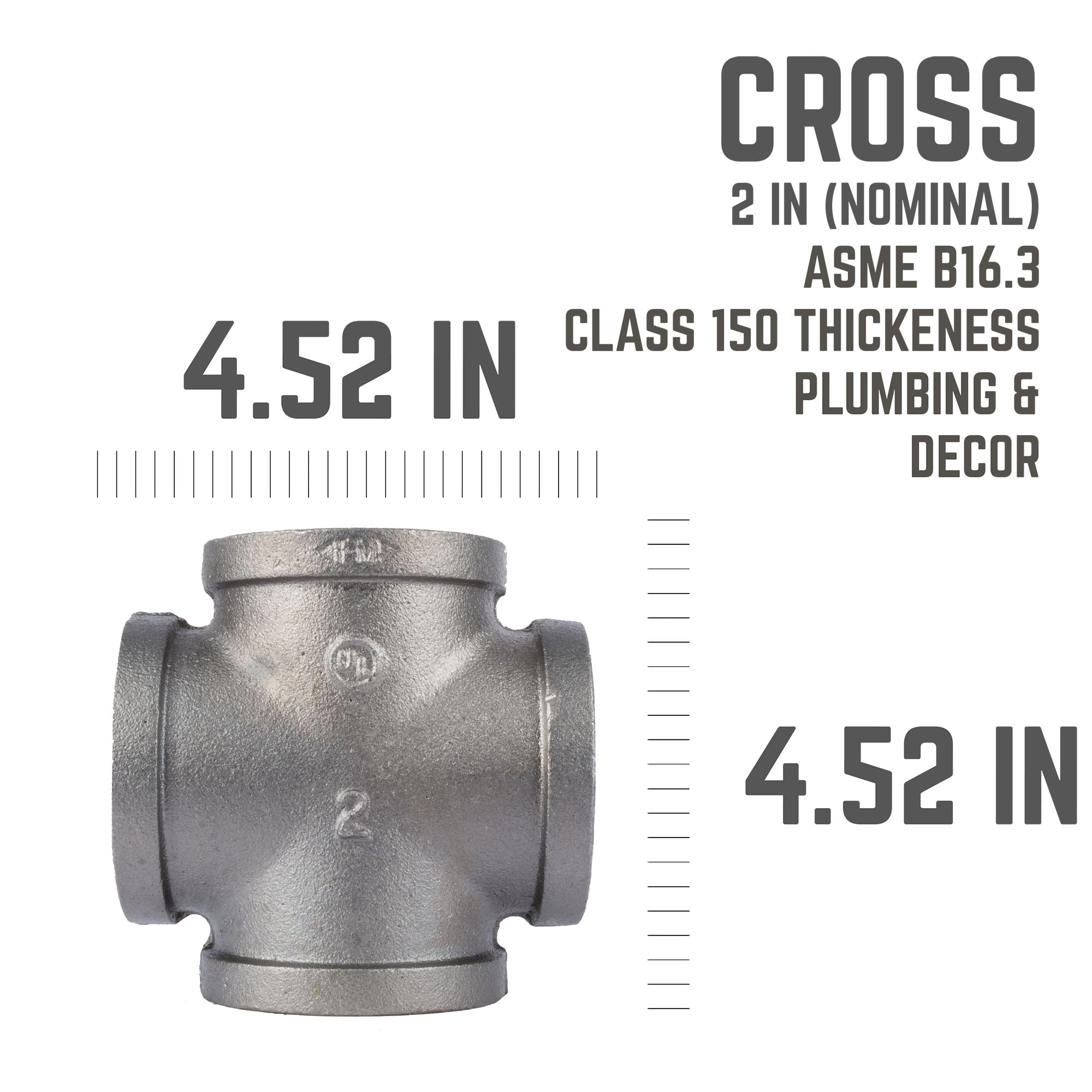 2 In Black Cross - Pipe Decor