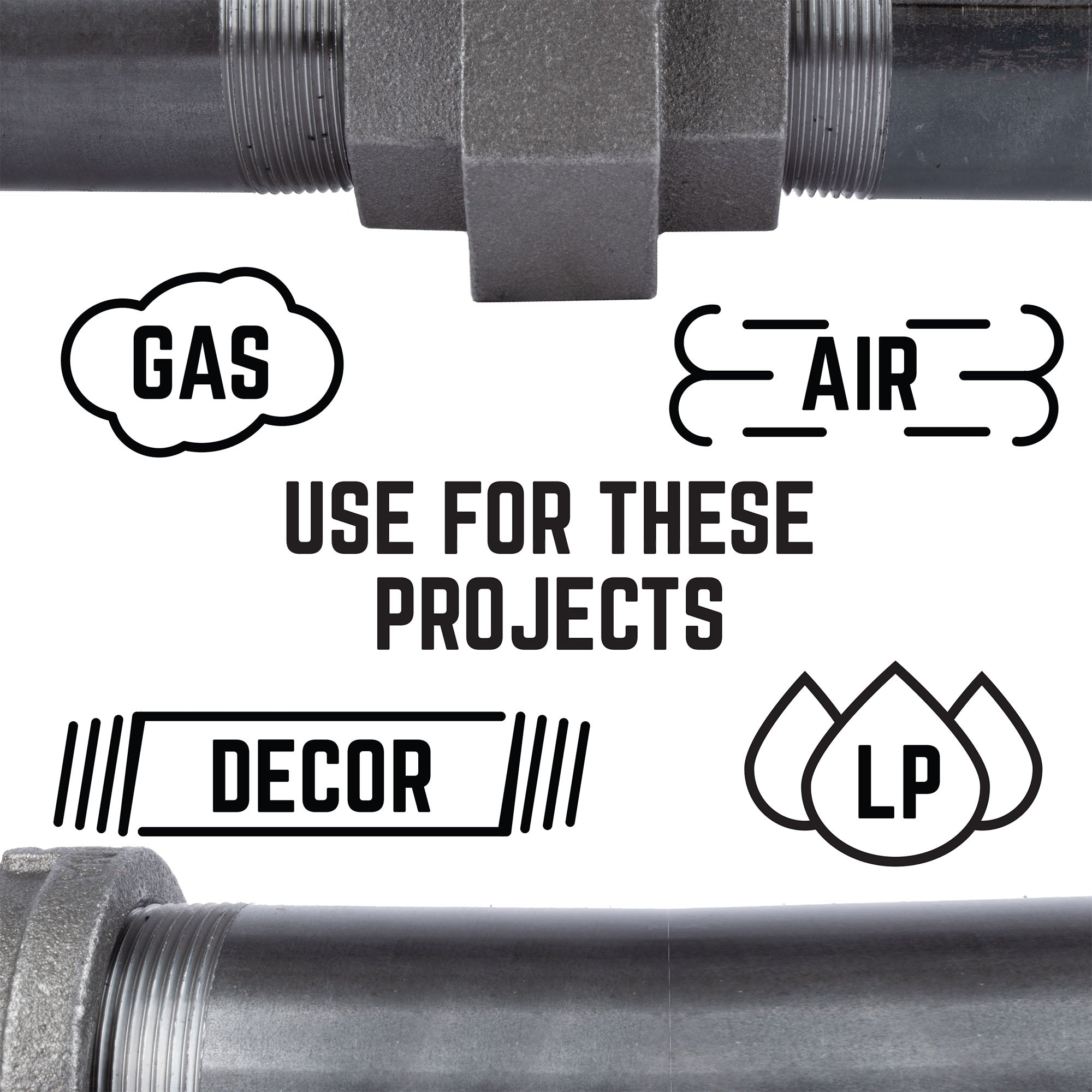 2 In Black 90 Degree Elbow - Pipe Decor
